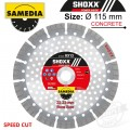 DIAMOND BLADE 115MM SEGMENTED IND REINF. CONCRETE SPEED CUT SHOXX RX13