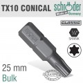 CLASSICAL BIT CONICAL TX10 X 25MM