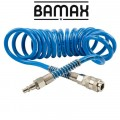 SPIRAL POLYP HOSE 4M X 12MM WITH QUICK COUPLERS