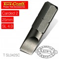 S/D INSERT BIT 4MMX25MM 2/CARD