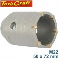 HOLLOW CORE BIT TCT 50 X 72MM M22