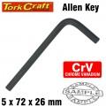 ALLEN KEY CRV BLACK FINISHED 5.0 X 72 X 26MM