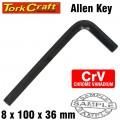 ALLEN KEY CRV BLACK FINISH 8.0 X 100 X 36MM