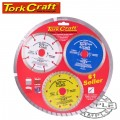 DIAM.BL.3PCE SET 115 CON/SEG/TURBO COLOUR PACK