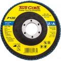 FLAP DISC ZIRCONIUM 115MM 120 GRIT FLAT