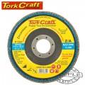 FLAP DISC ROUND EDGE ZIRCONIUM 115MM 120 GRIT FLAT