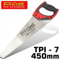 HAND SAW 450MM 7TPI 0.9MM TEMP. BLADE ABS HANDLE