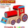 CREATE AND LEARN WOODEN TRAIN HEAD