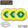 DIAMOND BLADE 3PCE SET 115MM CONT. RIM  DELROCK